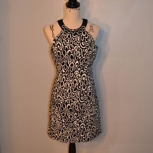Evan Picone black and white patterned dress